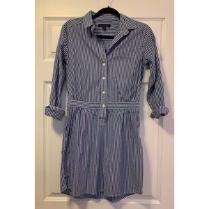 Banana Republic pinstripe collared shirt dress